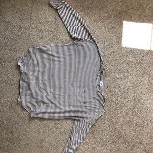 Stripped long-sleeve sweater